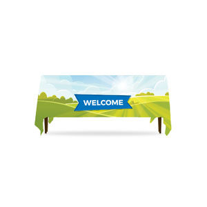 Bright Meadow Welcome Table Throws