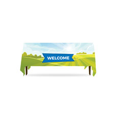 Bright Meadow Welcome Table Throw