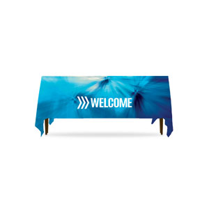 Chevron Welcome Blue Table Throws