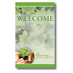 Growing Together Welcome - 3 x 5 3 x 5 Vinyl Banner