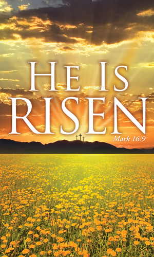 Banners, Easter, He is Risen - 3 x 5, 3 x 5