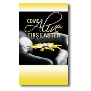 Come Alive Easter 3 x 5 Vinyl Banner