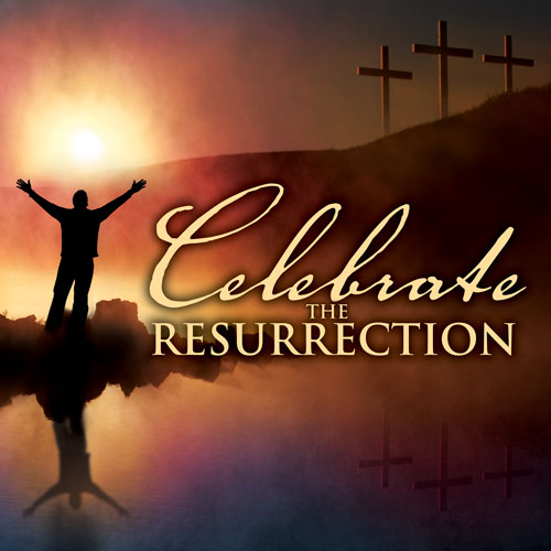 Banners, Easter, Celebrate Resurrection - 3 x 3, 3' x 3'