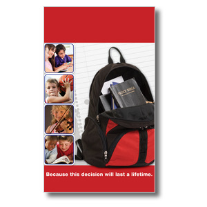 Backpack 3 x 5 Vinyl Banner
