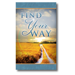Find Your Way Field 3 x 5 Vinyl Banner