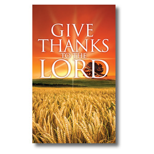 Give Thanks Lord 3 x 5 Vinyl Banner
