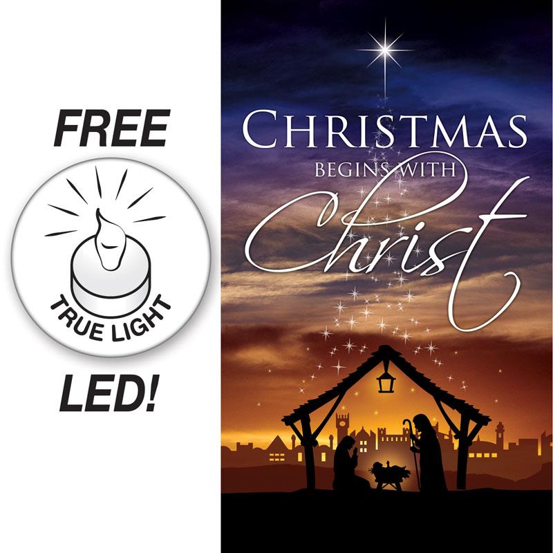 Christmas Begins Christ Banner - Church Banners - Outreach Marketing