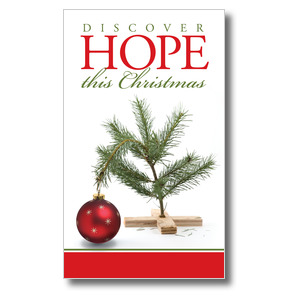 Hope Christmas Tree 3 x 5 Vinyl Banner