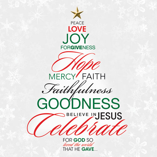 Church Banner Christmas Word Tree 3 X 3 Outreach