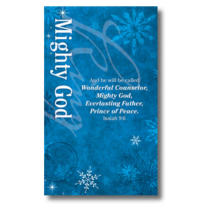 Isaiah 9 Mighty God 3 x 5 Vinyl Banner