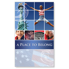 Belong Red White Blue Banner