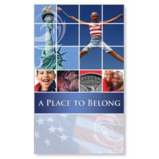 Belong Red White Blue Banner