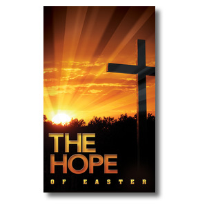 Easter Hope Cross 3 x 5 Vinyl Banner