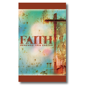 Renewed Faith  3 x 5 Vinyl Banner