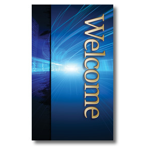 Light Rays Welcome 3 x 5 Vinyl Banner