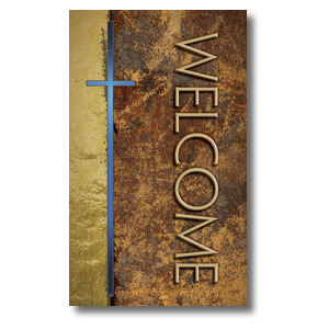 Leather Welcome 3 x 5 Vinyl Banner