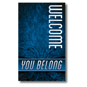 You Belong Welcome 3 x 5 Vinyl Banner