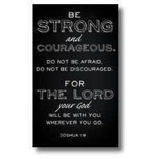 Chalk Josh 1:9 Banner