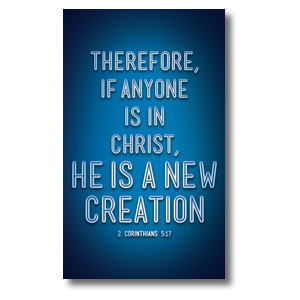 Words 2 Cor 5:17 3 x 5 Vinyl Banner