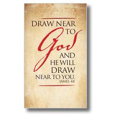 Red Script James 4:8 Banner