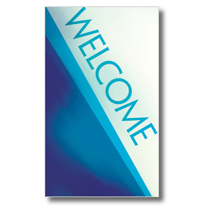 Color Rays Welcome 3 x 5 Vinyl Banner