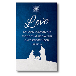 Advent Love 3 x 5 Vinyl Banner
