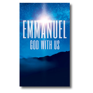 God With Us M 3 x 5 Vinyl Banner