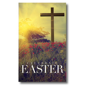 Celebrate Easter Cross 3 x 5 Vinyl Banner