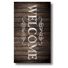 Rustic Charm Welcome Banner