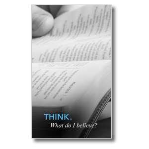 Believe: Think 3 x 5 Vinyl Banner