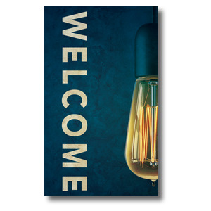 Retro Light Welcome 3 x 5 Vinyl Banner