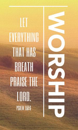 phrases worship vertical banner