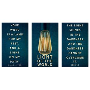 Retro Light Triptych 3 x 5 Vinyl Banner