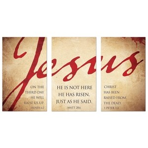 Jesus Triptych Banners