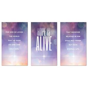 Hope Is Alive Triptych 3 x 5 Vinyl Banner