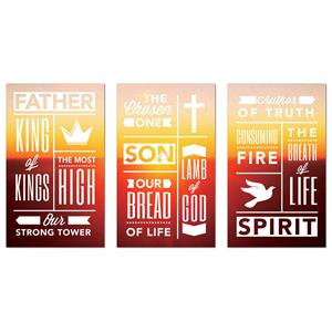 Phrases Trinity Triptych Banners