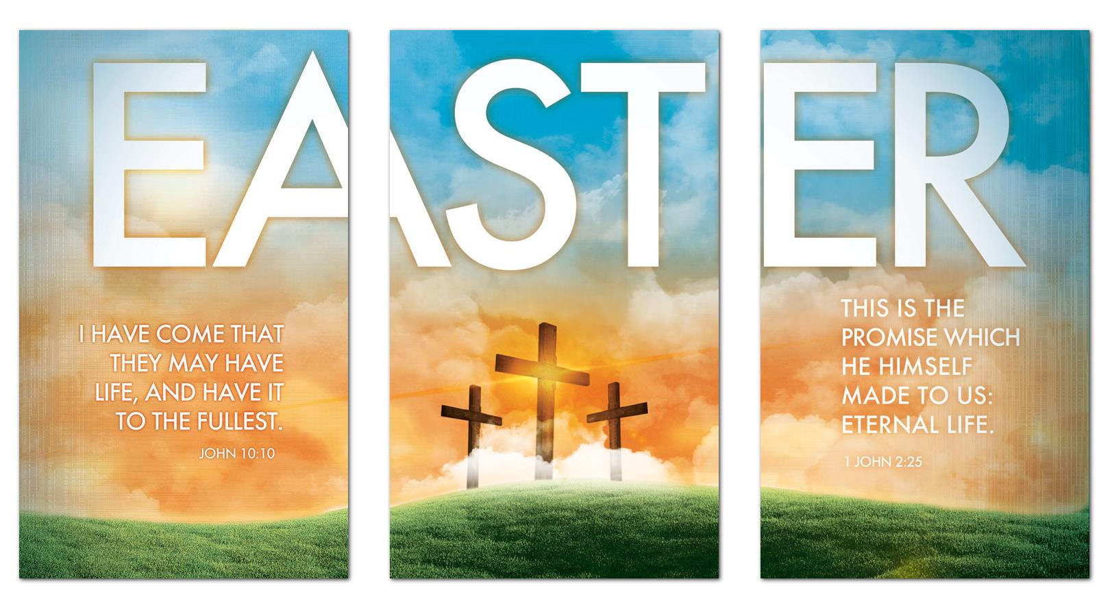 Easter Triptych Banner Church Banners Outreach Marketing