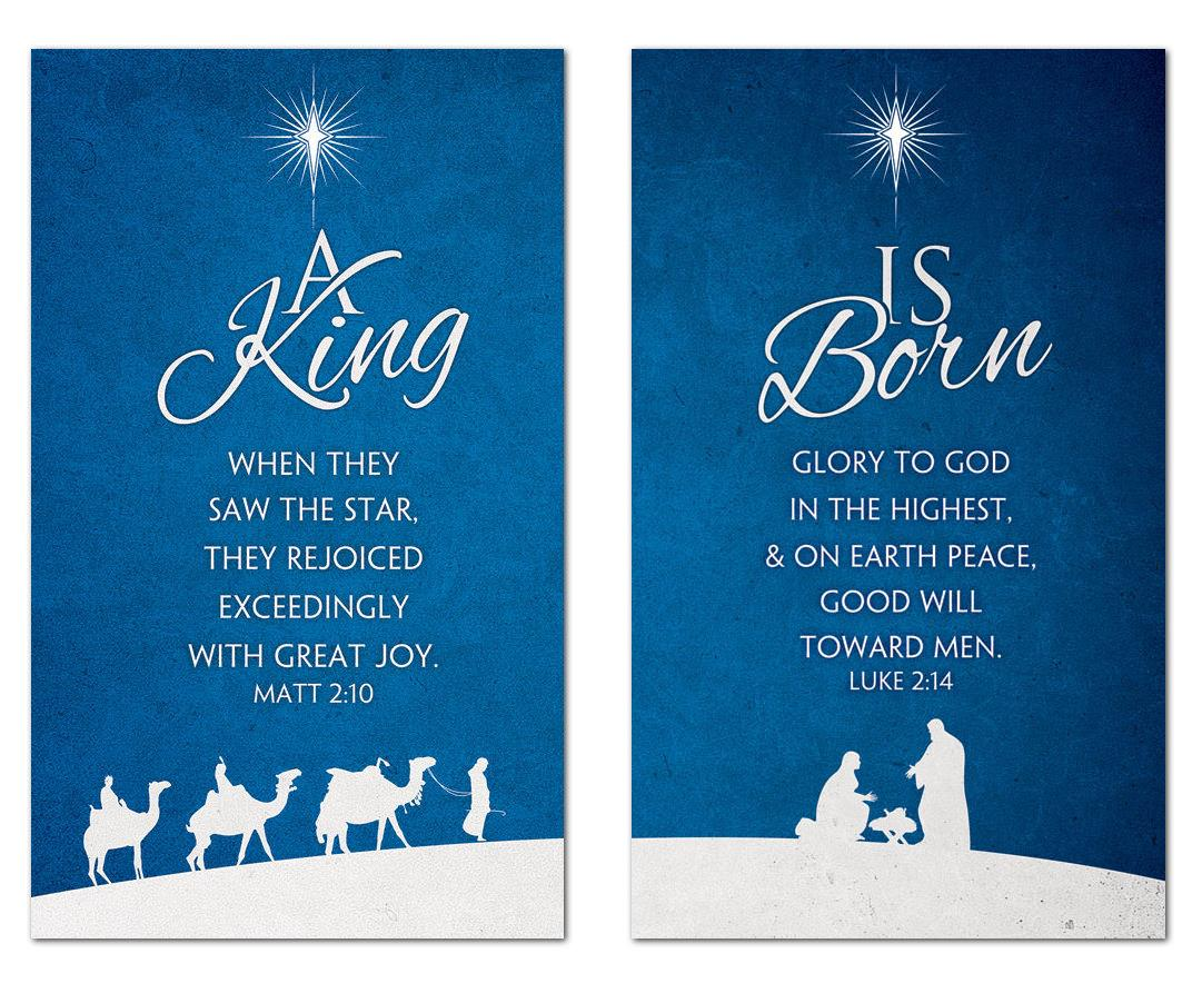 Christmas Blue Banner Church Banners Outreach Marketing