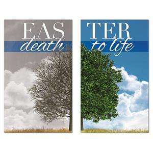Death to Life Pair 3 x 5 Vinyl Banner