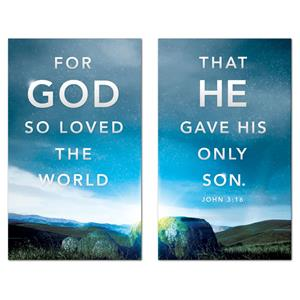 For God So Loved Pair 3 x 5 Vinyl Banner