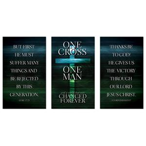 One Cross Triptych Banners