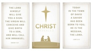 Christ Revealed Triptych Banners