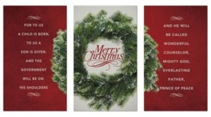 Merry Christmas Wreath Triptych Banners