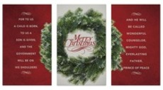 Merry Christmas Wreath Triptych