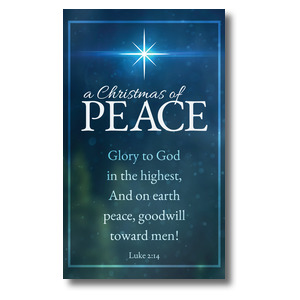 Christmas of Peace Luke 2:14 Banners
