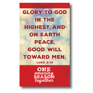 One Amazing Season Luke 2:14 3 x 5 Vinyl Banner