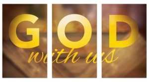 God With Us Manger Triptych Banners