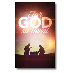 For God So Loved Nativity Banners