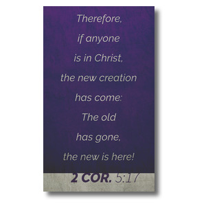 Color Block 2 Cor 5:17 3 x 5 Vinyl Banner