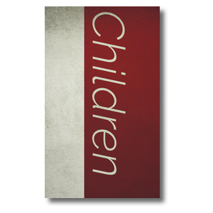 Color Block Children 3 x 5 Vinyl Banner